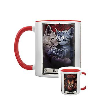 Deadly Tarot Felis The Lovers The Fool & The Devil Inner Two Tone Mug