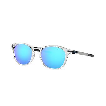 Oakley Pitchman R OO9439 04 Polished Clear/Prizm Sapphire Sunglasses