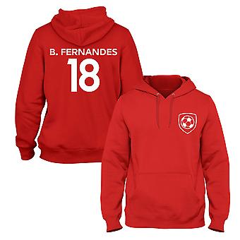 Bruno Fernandes 18 Club Style Player Football Hoodie