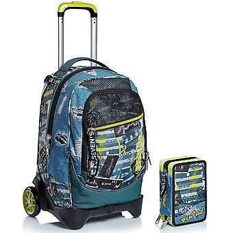 School Kit - Trolley Jack 2WD SEVEN + PEN PAD CASE - URBAN ROCK