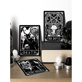 Deadly Tarot Death The Devil & The Hermit Tin Plaque Set (Pack of 3)