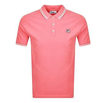 Fila Vintage Lm118947 Vinilo Tipped Collar Polo camiseta