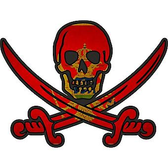 ملصق ملصقا القراصنة جاك rackham calico العلم البلد MNE الجبل الأسود