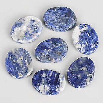 Natural Sodalite Crystal Reiki, Healing Chakra, Palm Worry Stone, Spa Massage,