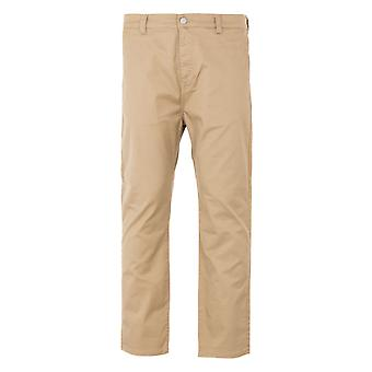 Edwin Universal Cropped Cotton Twill Blend Pants - Rinsed Stone Beige