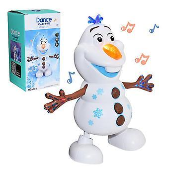 Tanssiva lumiukko - musikaali Olaf-robotti led-valolla