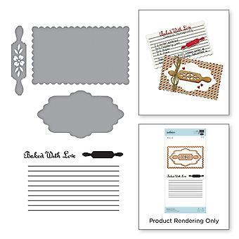 Spellbinders Stamp and Die Set - Sharyn Sowell - Recipe Card Set