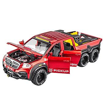 1:28 Giocattolo Car Benz X Classe 6*6 Toy Alloy Car (Rosso)