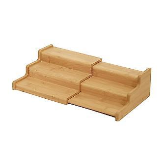 Eco amigável 3 nível retrátil armário de cozinha armário despensa rack de armazenamento de tempero de armazenamento