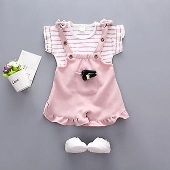 Baby Summer Clothing, Striped Top Strap Shorts Set