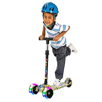 1-3-6 Years Old Beginner Baby Flashing Single Foot Sled Scooter