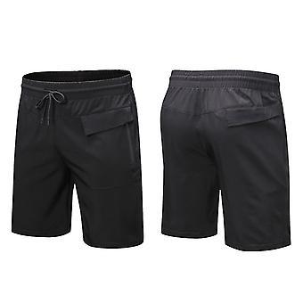 SPORX Men&s Performance Shorts med blixtlås fickor Svart