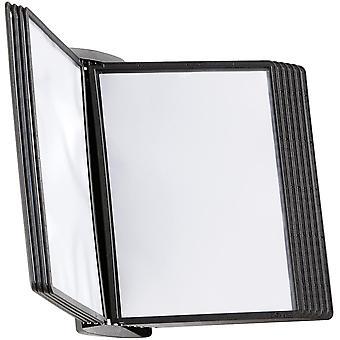 FengChun 585401 Wand-Sichttafelsystem Sherpa Style Wand, mit 10 Sichttafeln A4, schwarz