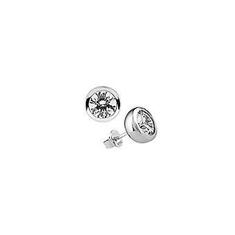 Diamonfire - Pendientes de perlas, Plata de ley 925, Mujer
