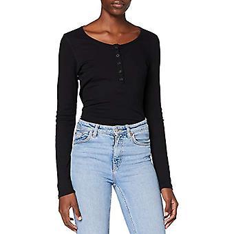 Lee Henley T-Shirt, Svart, M Kvinna