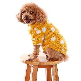 Polka piste kashmir koira villapaita