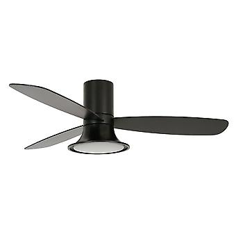 DC ceiling fan Flusso Black with LED and remote