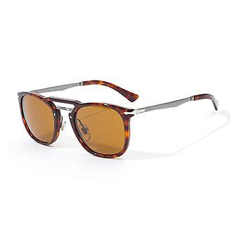 Persol Brown lens Sunglasses - Havana & Gunmetal
