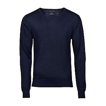 Tee Jays Mens V Neck Knitted Sweater TJ6001