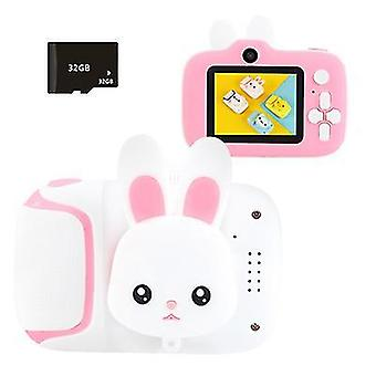Pink mini children's digital camera with 20 million high-definition pixels£¬ supports mp3 music play az22702