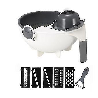 9Pcs 9pcs / 12pcs set multifunctional food slicer adjustable vegetable and fruit slicer with drain basket az14032