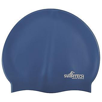 SwimTech Silicone Swim Cap Royal Blue