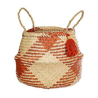 Sass & Belle Terracotta Check Basket