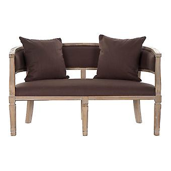 Sofa DKD Home Decor Brown Linen Rubber wood Traditional (122 x 69 x 72 cm)