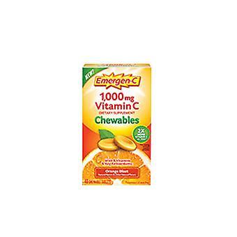 Emergen-C Emergen-C Orange Chewables, 1000 mg, 40 Chews