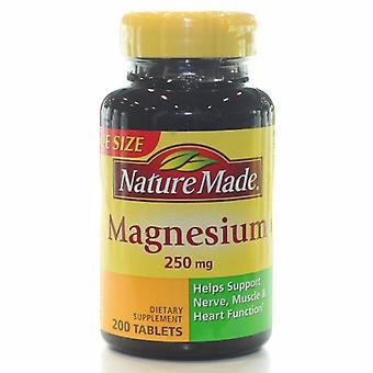 Nature Made Magnesium, 250 mg, 200 Tabs