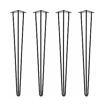 1 Set Table Bracket Simple Solid Iron Reinforced Table Leg With Foot Pad Screws For Home Restaurant
