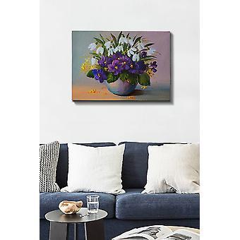 Kanvas Tablo (50 x 70) - 125 flerfärgade dekorativa dukmålning