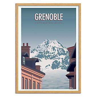 Kunstposter - Grenoble - Turo
