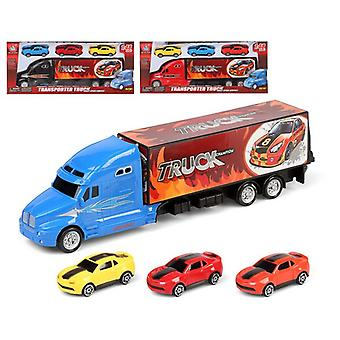 Truck Carrier and Cars (35 x 14 cm)