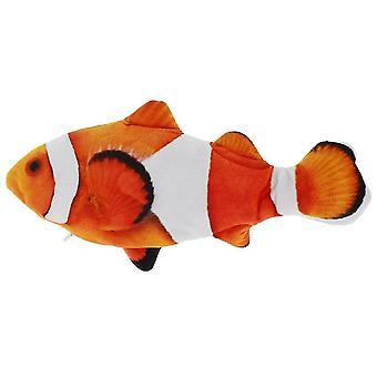 Lemmikki kissa lelu USB lataus simulaatio sähkö liikkuva pehma kala kissat lelu lelut interaktiivinen