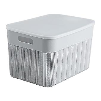 1pc Clothes Storage Box Bins with Lid Snacks Toy Case Underwear Organizer Plastic Container Cabinet
