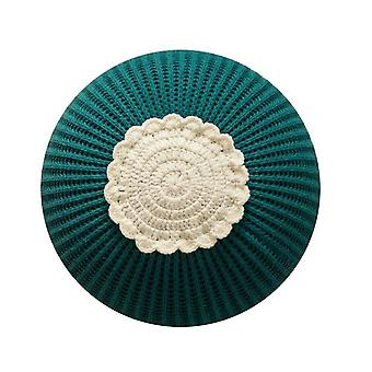 Knitted Circular Children's Toy Pillow Model Room Decorative Cushion(Green)