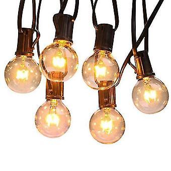 G40 Waterproof Outdoor Lights 25 Feet , 26 Glass Bulbs,for Backyard Porch Balcony Party Decor