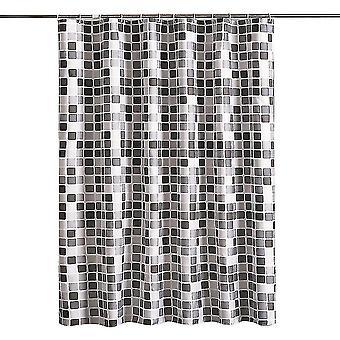 Bathroom Shower Curtain Hotel Quality Waterproof Washable(200x180)(Black)