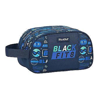 Skola Toalettväska BlackFit8 Logotyper Retro Navy Blå