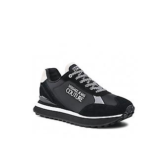 Versace Jeans Couture Spyke Nylon/suede Black Runner Trainer