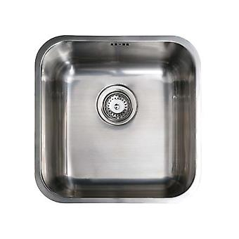 CATA Sink CB 40-40 Undermounted, Square, Number of Bowls 1, Stainless Steel, Stainless Steel