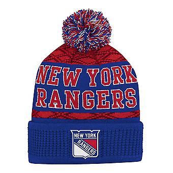 Copii NHL pălărie de iarnă - PUCK MODEL New York Rangers