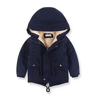 Párnázott kabát kék mackó szőrmével