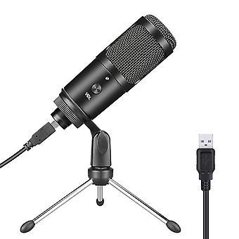 Usb kondenzátor mikrofon számítógép horgony Live K Song Recording Game Hang videokonferencia Online osztály Dedikált