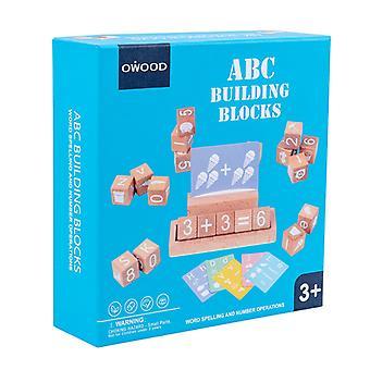 Baby Toy Digital Montessori Wooden Alphabet Blocks Match Games