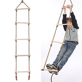 Children's Rope Ladder Swing Five-stage Wooden Climbing Ladder