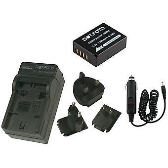 Dot.Foto Fujifilm NP-W126 - 7.2v / 1260mAh batería y cargador de viaje