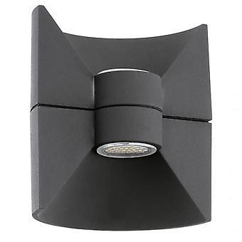 Eglo Redondo LED Outdoor Black Up & Down Wall Light