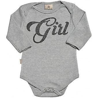 Spoilt Rotten Girl Design Long Sleeve Organic Babygrow